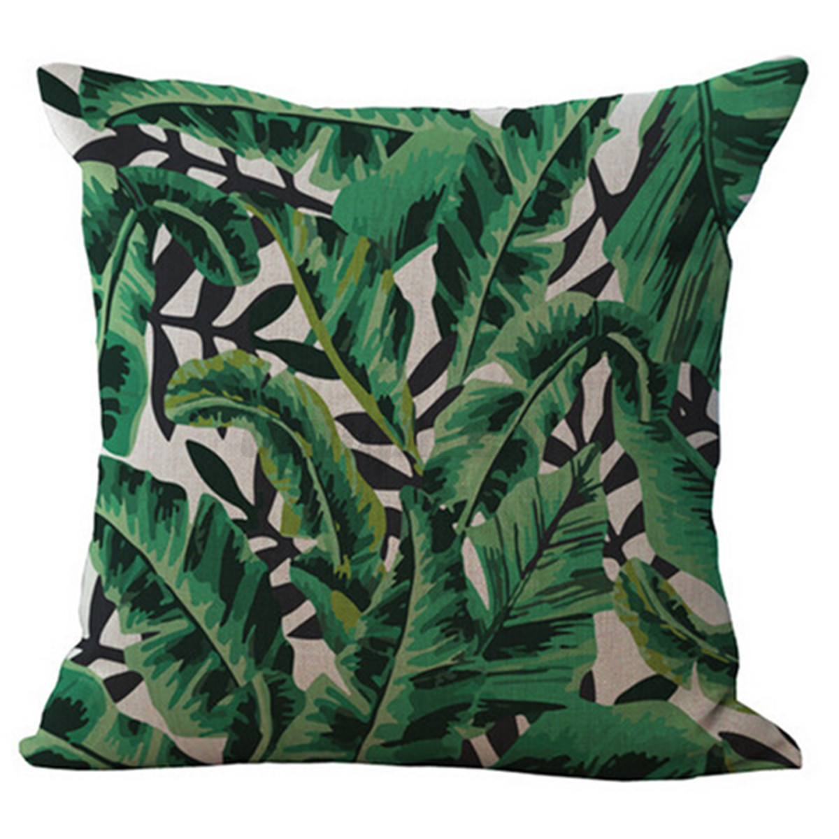 tropical sofa throw cover leather two seat reclining floral plant leaf cushion covers pillow