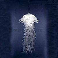 Glow Ethereal Jellyfish Lampshade Ceiling Chandelier Light