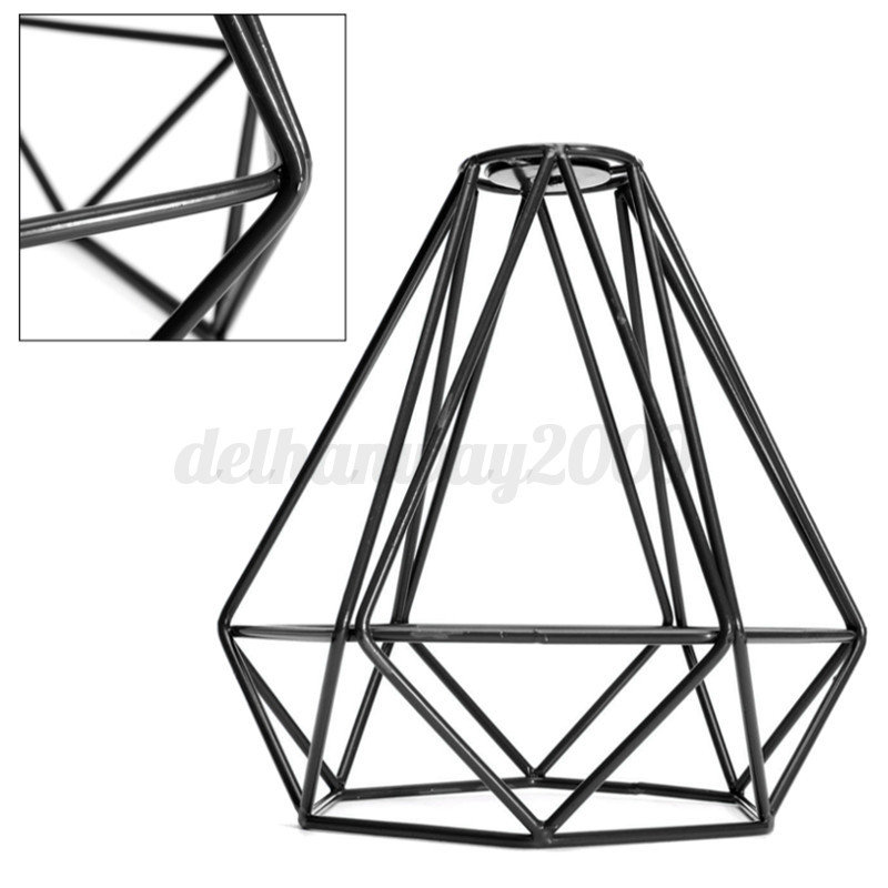 Modern Industrial Style Metal Wire Frame Ceiling Light