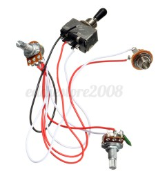 2 of 9 electric guitar 3 way toggle switch wiring harness kit 1 volume 1 tone [ 1200 x 1200 Pixel ]