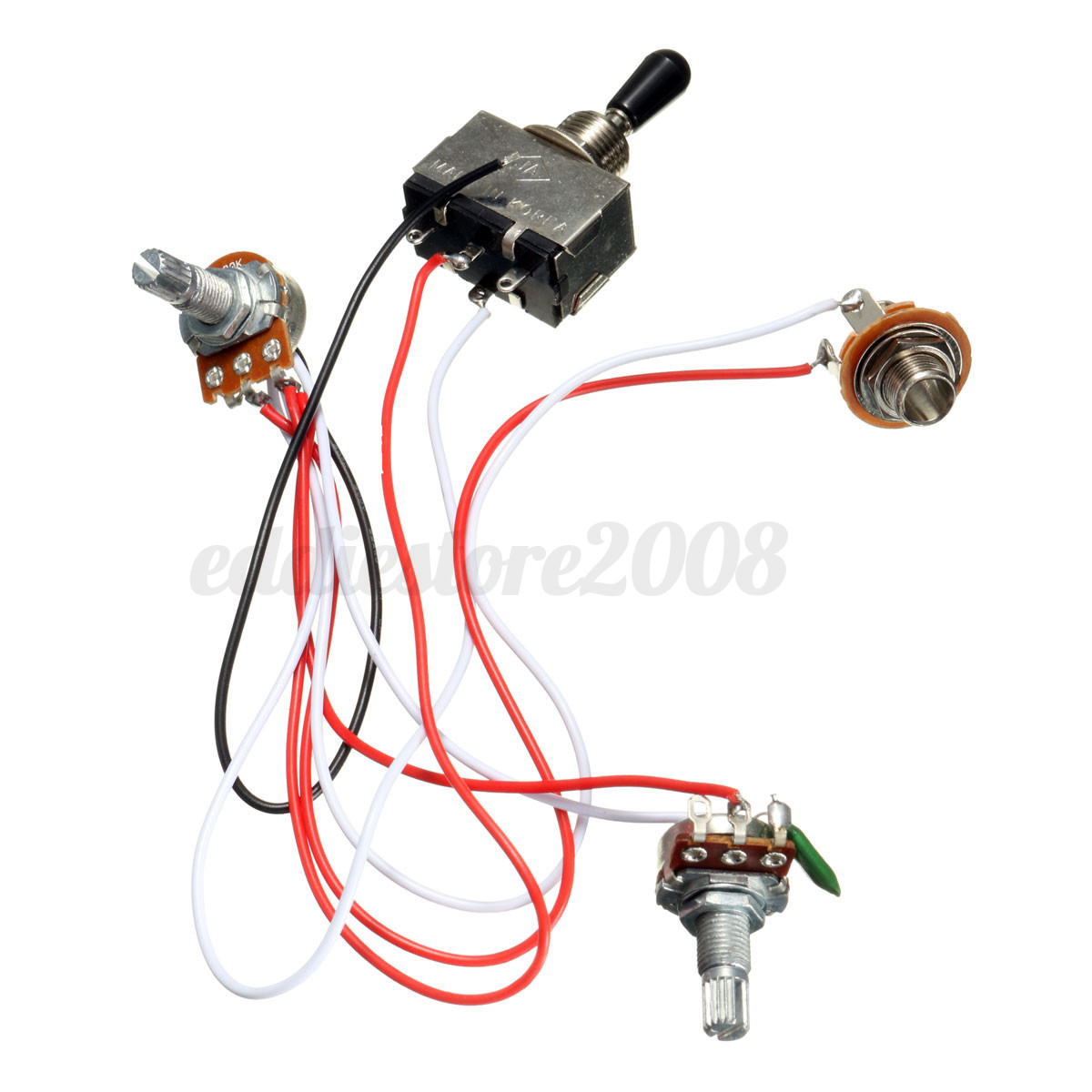 hight resolution of 2 of 9 electric guitar 3 way toggle switch wiring harness kit 1 volume 1 tone
