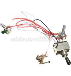 electric guitar 3 way toggle switch wiring harness kit 1 volume 1 tone 500k 4 4 of 9  [ 1200 x 1200 Pixel ]