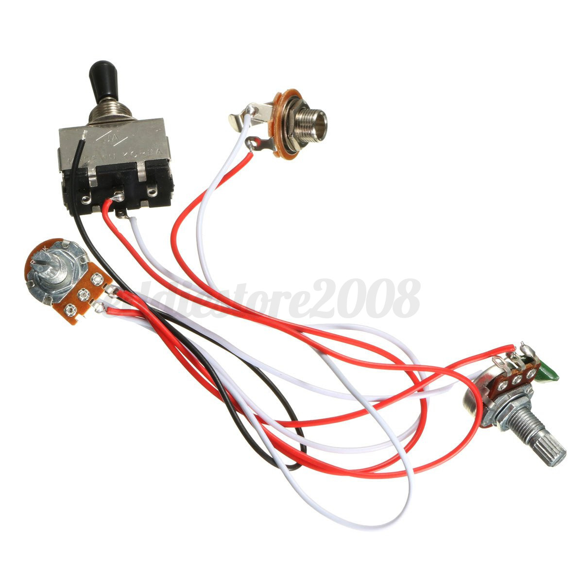 3 way electric mercury outboard tach wiring diagram guitar toggle switch harness kit 1