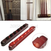 2PCS Billiard Pool Stick Wall Mount Hanging 6 Cue Sticks ...