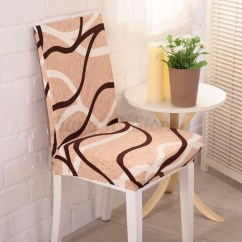 Elastic Kitchen Chair Covers Stuffed Animal Bean Bag 6pcs Flower Seat For Dining Cover
