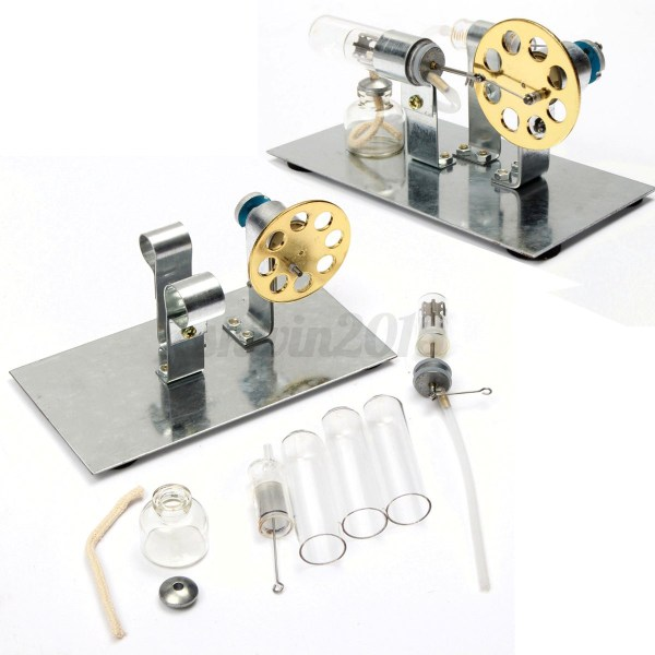 Mini Stirling Engine Model Air Steam Powered Educational
