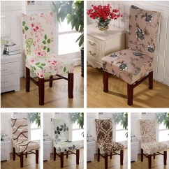 Elastic Kitchen Chair Covers Graco 4 In One High X Removable Stretch Dining Room Seat Cover