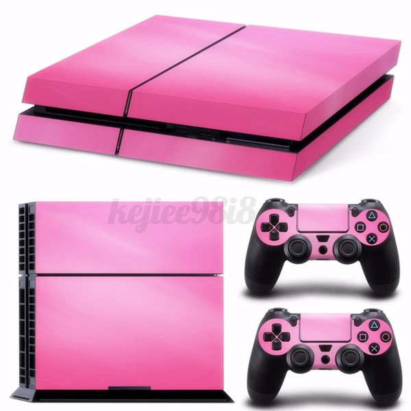 Hot Pink Skin Sticker Vinyl Cover For PS4 Playstation 4
