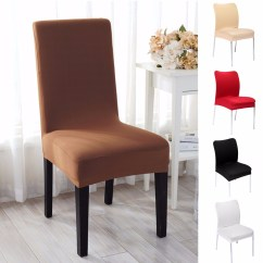 Removable Dining Chair Seat Covers Couch And Bed Bath Beyond Stretch Soft Stool Cover Room Hotel