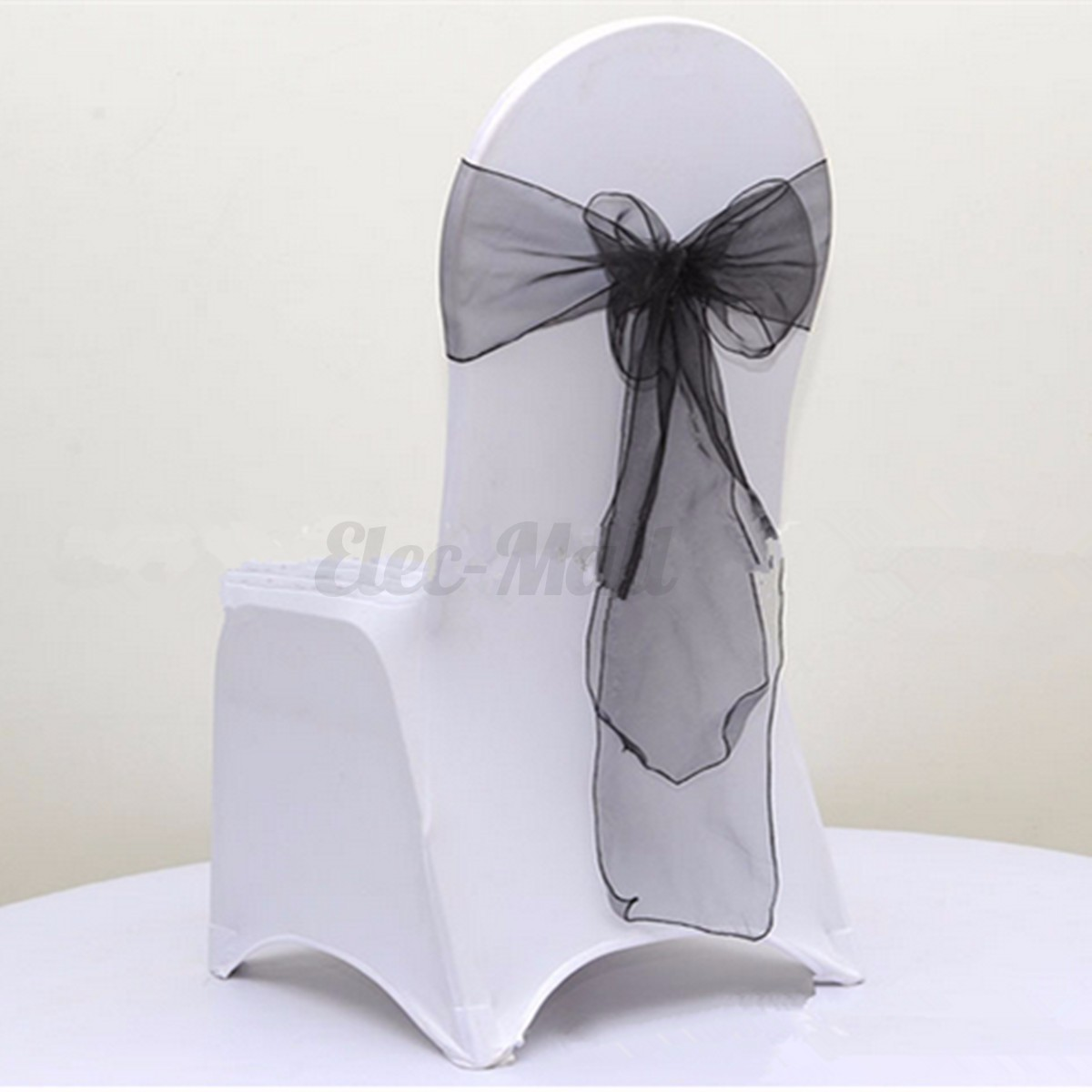 tulle chair covers for wedding target rope organza cover bow sash wider party reception