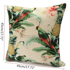 Tropical Sofa Throw Cover Robinson Leather Trend Floral Plant Leaf Cushion Covers Pillow