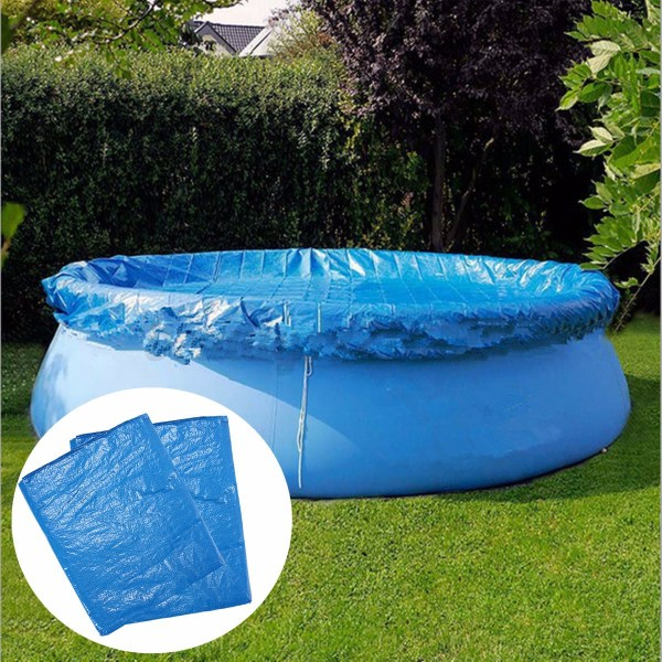 8ft 10ft Swimming Pool Cover With Rope Ties Inflatable Paddling Sheet Fast