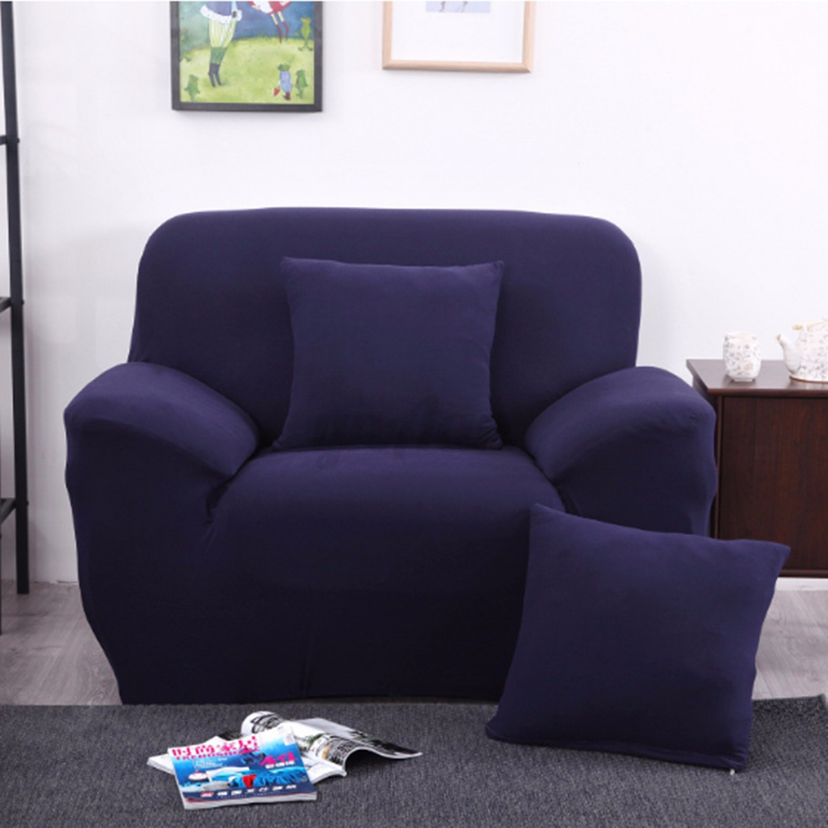 fitted chair covers ebay babies r us rocking uk 1 2 3 seater sofa cover pillow case easy fit stretch
