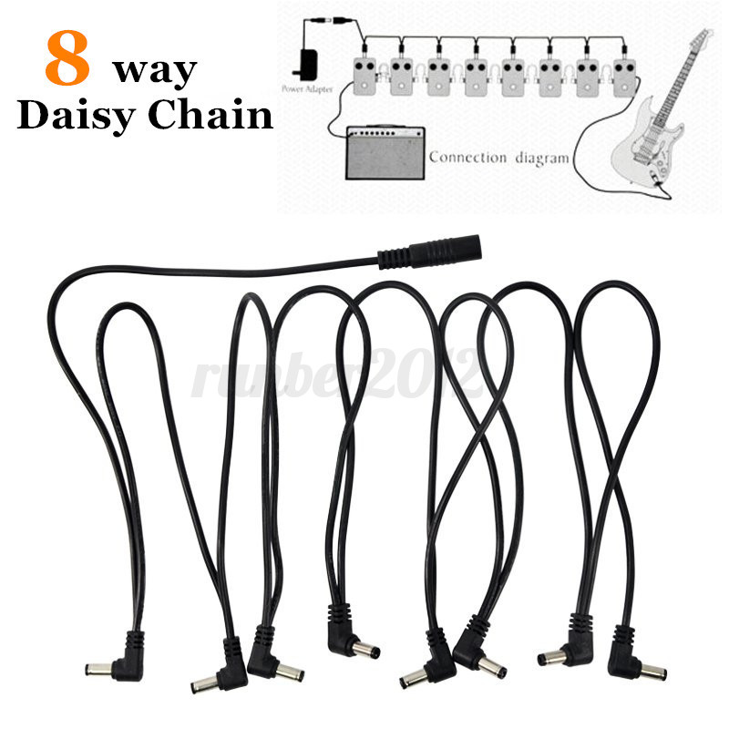 8 Way Daisy Chain Cable Guitar Effect Pedal Power Supply