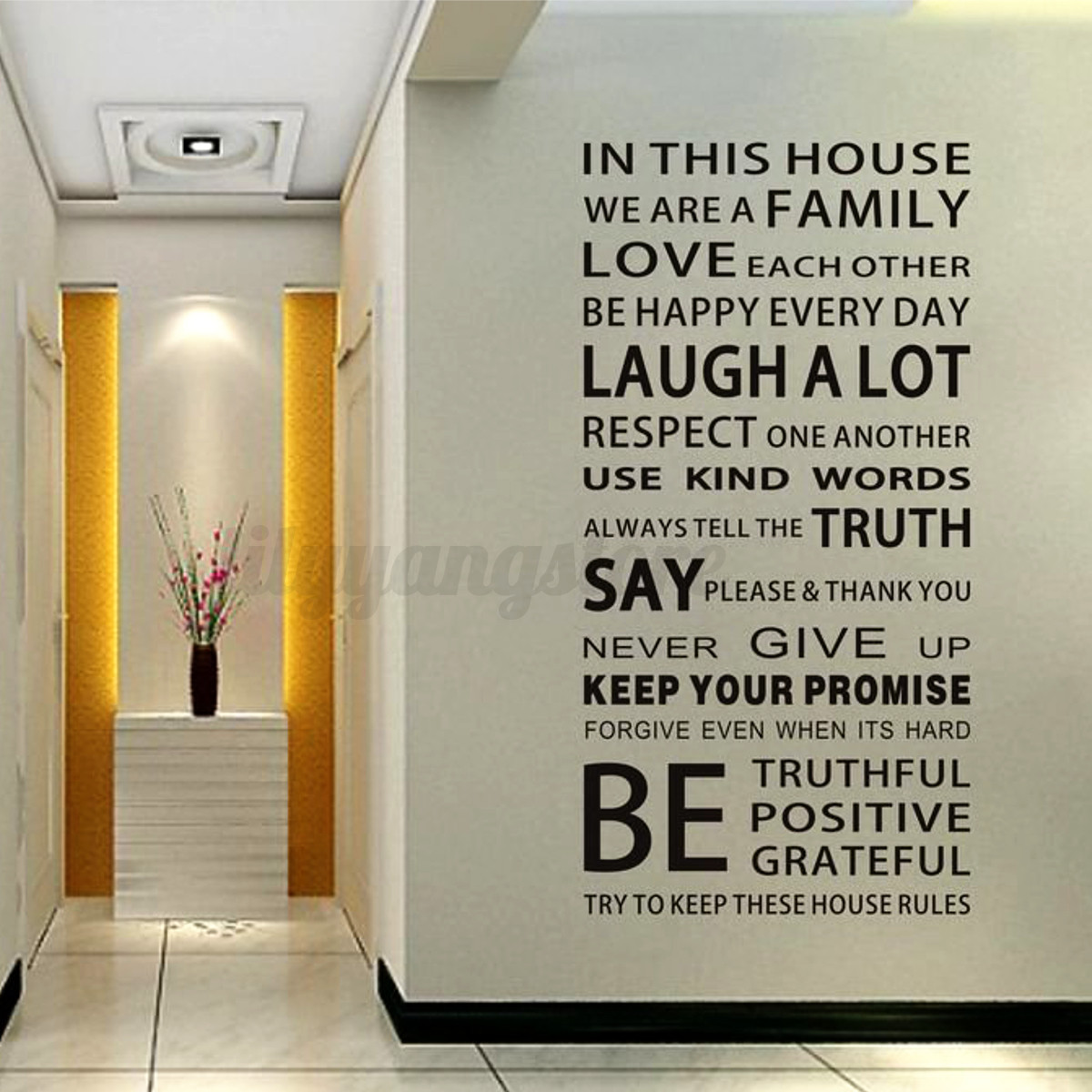 Details About Removable Vinyl Decal Art Mural Family Home Living Room Decor Quote Wall Sticker