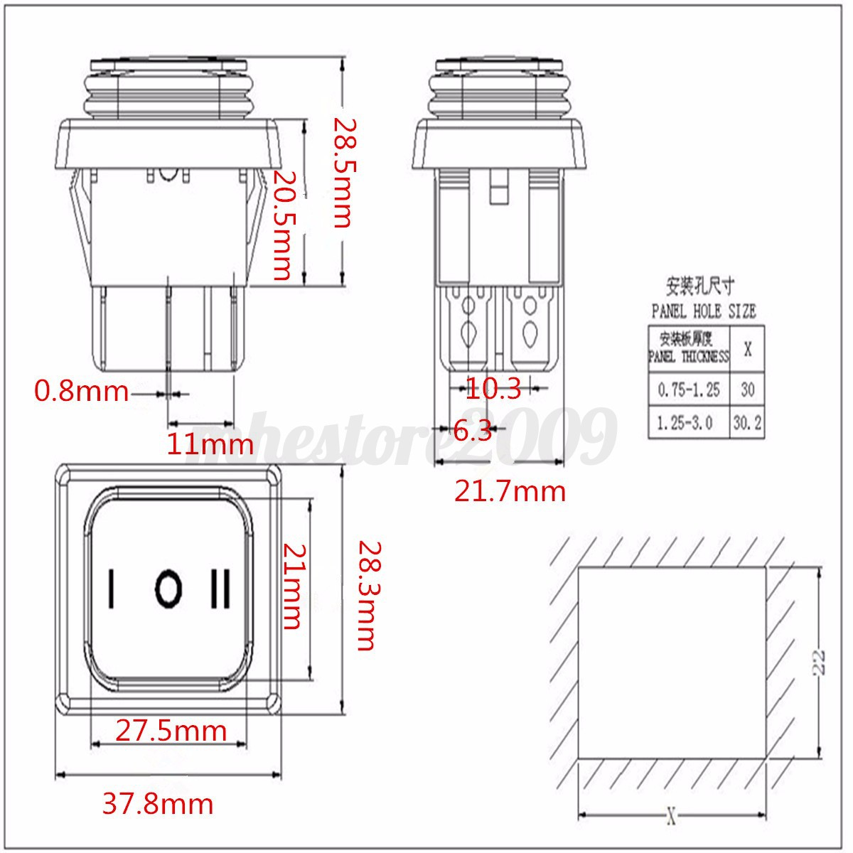 6 pin square trailer wiring diagram architecture bubble template excel 5pcs 12v auto dush 6pin dpdt locking on off