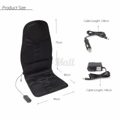 Massage Chair Portable Folding Parts Cushion Heat Back Neck Vibrating Seat Body