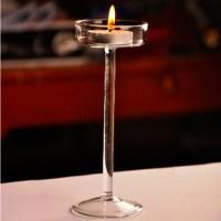 10X Elegant Crystal Glass Candle Holder Tealight Wedding ...