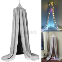 GREY Bed Netting Canopy Mosquito Bedding Net Baby Kids ...