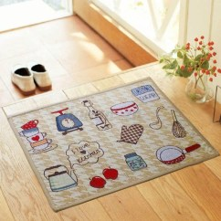 Non Slip Kitchen Rugs White Cabinet Jacquard Rug Bedroom Floor Mats Hallway