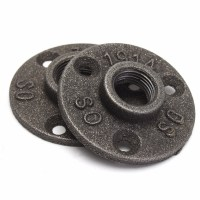 """1/2"""" 3/4"""" Black Malleable Cast Iron Pipe Fittings Floor ..."""