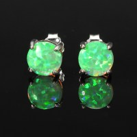 Australian Fire Opal Zircon Gemstone Silver Earrings ...