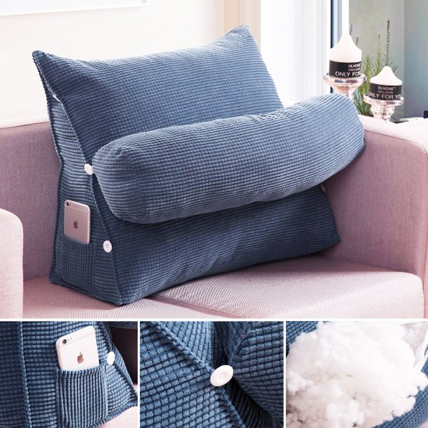 Pearl Wool Wedge Pillow Reading Bedrest Rest Support Thwartwise Cushion