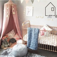 Kids Bed Canopy Netting & Purple Princess Mosquito Net Bed ...