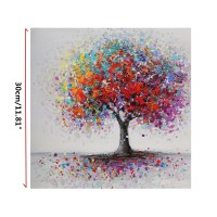 Framed Colorful Tree Abstract Picture Canvas Print ...