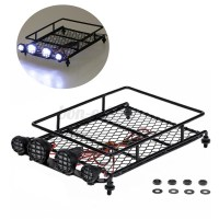 New Roof Luggage Rack With LED Light Bar For 1/10 1/8 RC ...