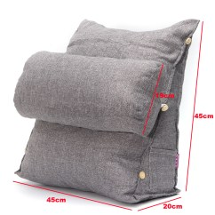 Back Pillow For Office Chair Lexington Dining Chairs Adjustable Fip Sofa Bed Rest Neck
