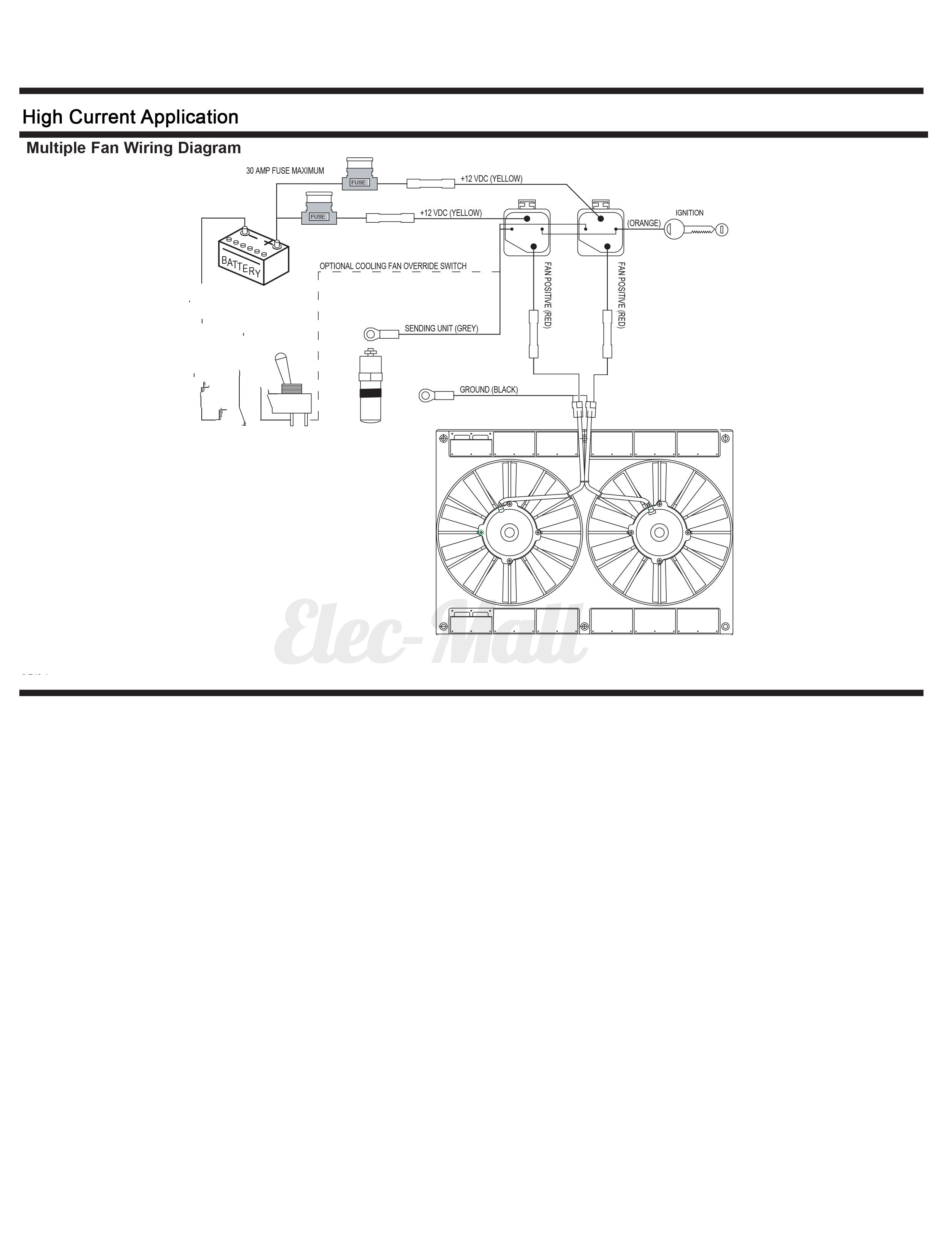 dual electric fan wiring diagram with relay how to draw a bar harness thermostat sensor