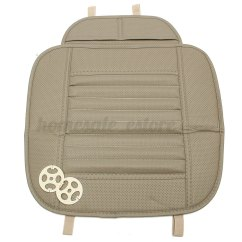 Chair Mat Bamboo Fuzzy Office Pu Leather Car Front Seat Protect Cover Pad