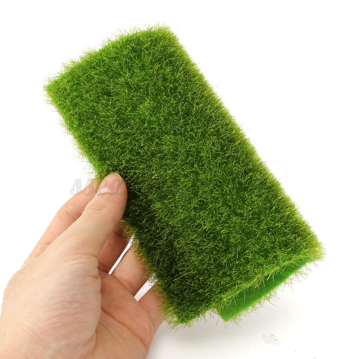 MOSS GREEN ARTIFICIAL Grass Synthetic Lawn Landscape Fairy