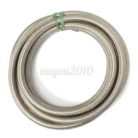 AN6 -6AN Stainless Steel Braided OIL/FUEL Line + Fitting ...