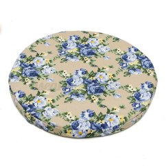 Round Chair Pad Shabby Chic Office Slipcovers Soft Offic Sofa Seat Cushion Kitchen