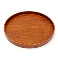 Natural Wood Serving Tray Tea Food Server Dishes Platter ...