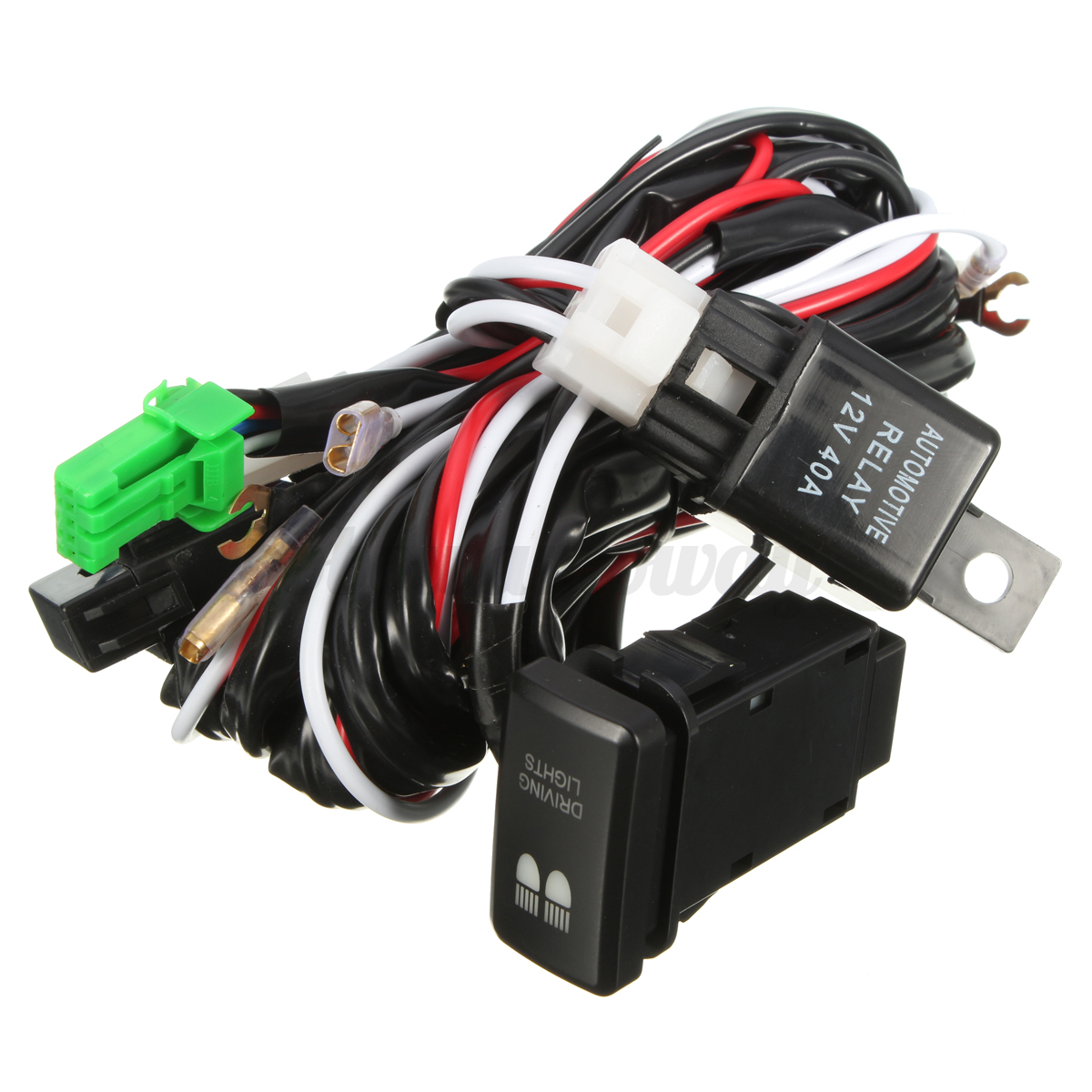 hight resolution of led driving light wiring loom harness relay 40a switch illuminator led driving light wiring harness trailer