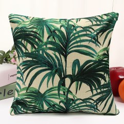 Tropical Sofa Throw Cover Furniture Sofas Melbourne Floral Plant Leaf Cushion Covers Pillow