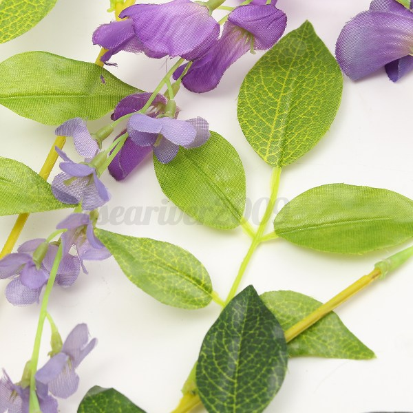 Artificial Wisteria Vine Flower Plants Wedding Party