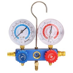 3 Way Quick Coupling Manifold Lion Life Cycle Diagram Refrigerant Gauge Charging Hose 150cm 5ft