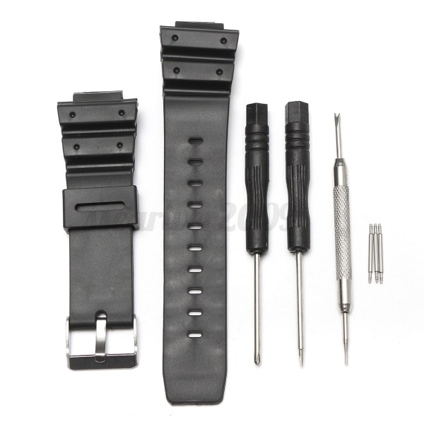 25mm Frosted Silicone Rubber Watch Band Strap Casio