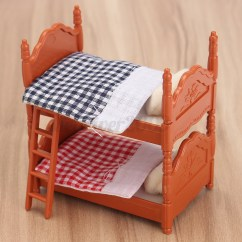 Dollhouse Sofa Yellow Chair 1 12 Scale Miniature Furniture Plastic Bunk Bed