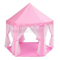 Portable Girls Pink Princess Castle Play Tent Activity ...