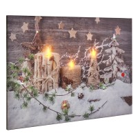 LED Light Up Candle Canvas Painting Prints Pictures ...