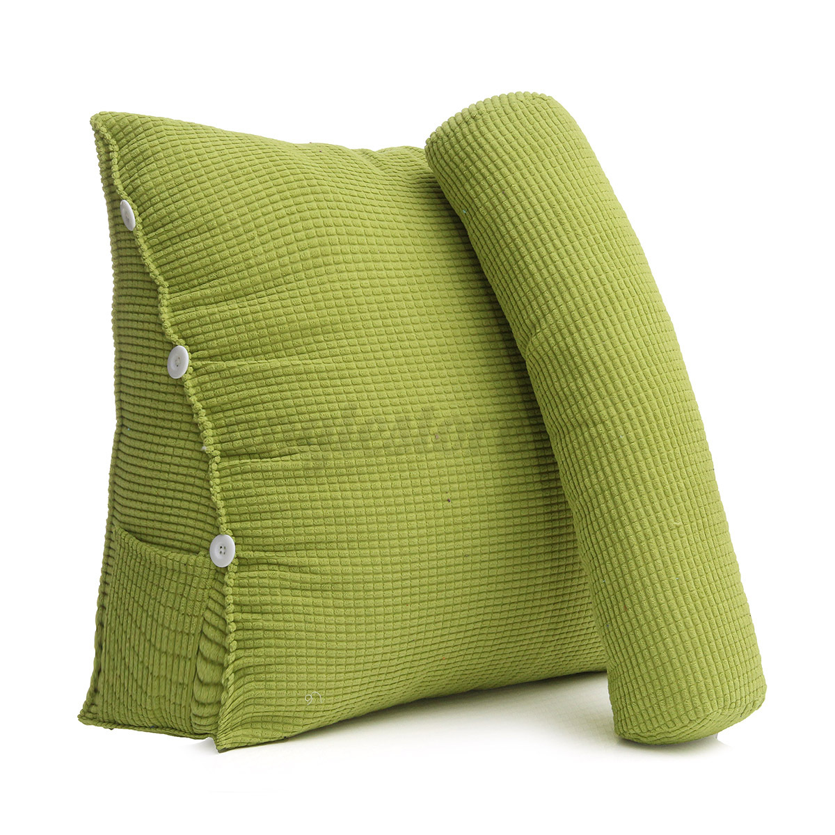 Pearl Wool Back Wedge Pillow Reading Bedrest Rest Support