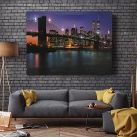 Bridge LED Light Up Canvas Painting Picture Wall Hanging ...