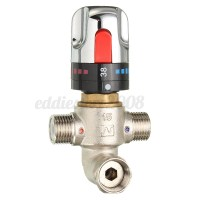 New Thermostatic Control Mixing Valve Faucet Bath Shower ...