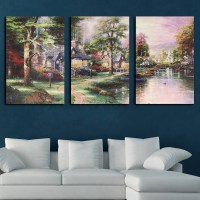 Nature Forest Modern Canvas Art Painting Picture Print ...