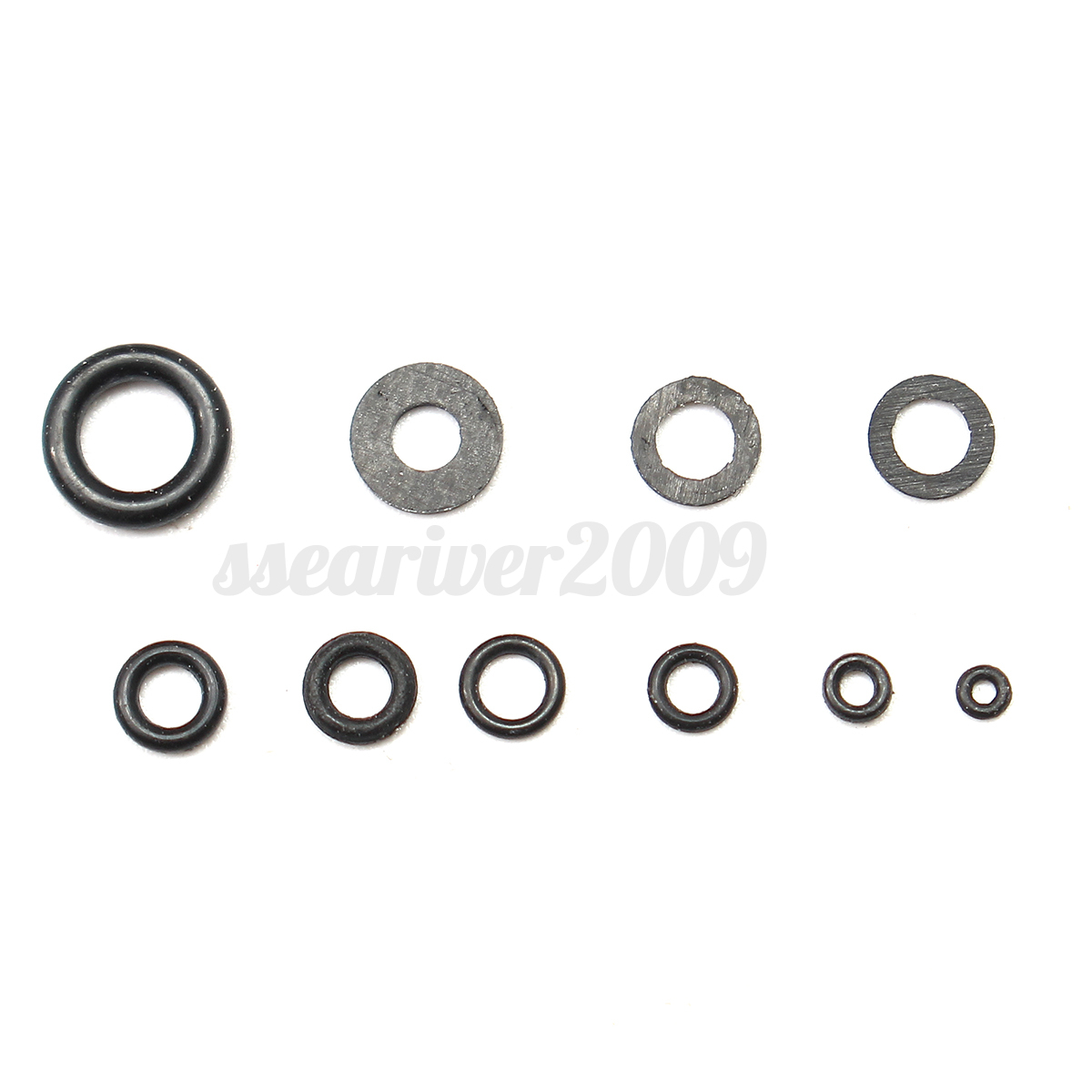 300pcs O Ring Watch Tool Flat Rubber Seal Washers 1 4 2 8mm 10 Size Assortment